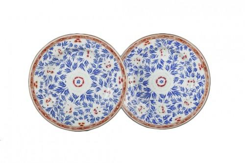 Exportware pair of porcelain plates Yongzheng 1723 - 1735