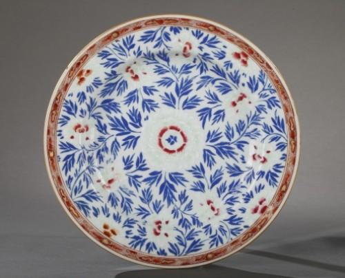 Exportware pair of porcelain plates Yongzheng 1723 - 1735 - Porcelain & Faience Style