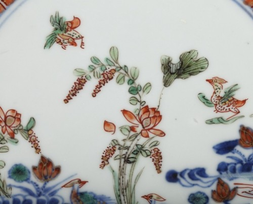 Exportware pair of Chinese plates Yongzheng period 1723 - 1735 - Porcelain & Faience Style