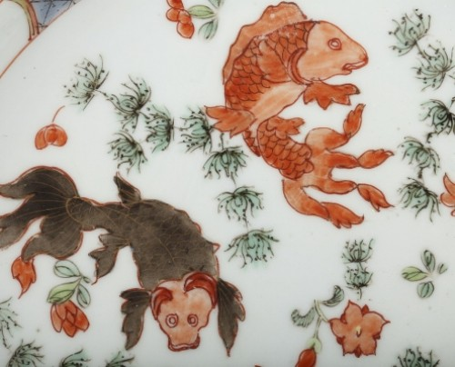 Porcelain & Faience  - Exportware pair of Chinese plates Yongzheng period 1723 - 1735