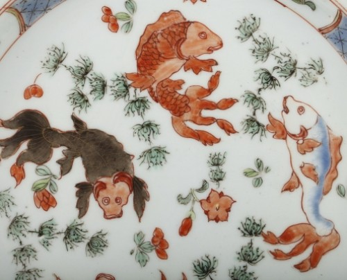 Exportware pair of Chinese plates Yongzheng period 1723 - 1735 -