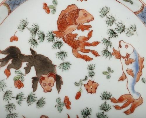 Exportware pair of Chinese plates Yongzheng period 1723 - 1735 -