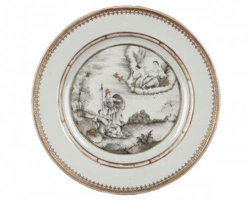 Exportware chinese plate depicting Telemaque history Circa 1750