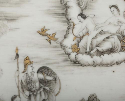 Exportware chinese plate depicting Telemaque history Circa 1750 -