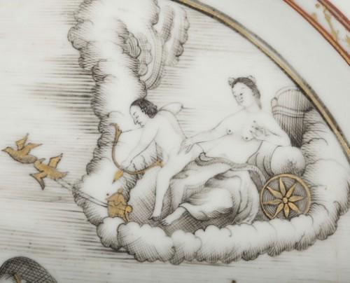 - Exportware chinese plate depicting Telemaque history Circa 1750