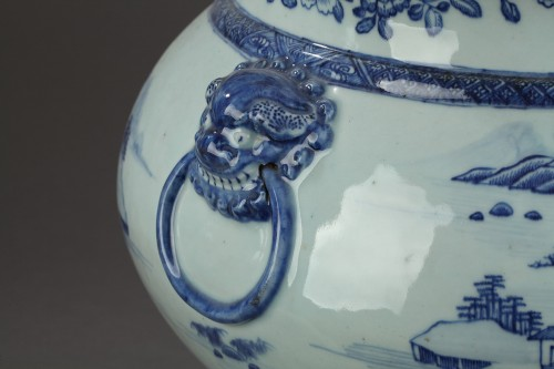 Very large wine cooler, chinese porcelain, Qianlong Period 1736 - 1795 - Porcelain & Faience Style