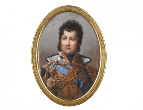 Miniature depicting the futur french king Louis Philippe  circa 1820