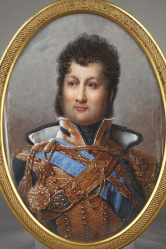 Objects of Vertu  - Miniature depicting the futur french king Louis Philippe  circa 1820