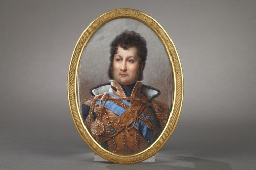 Miniature depicting the futur french king Louis Philippe  circa 1820 -
