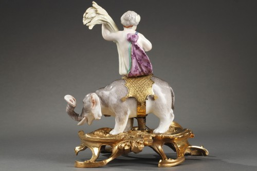 Porcelain & Faience  - Meissen porcelain 18th century period with ormulu bronze circa 1745-1749