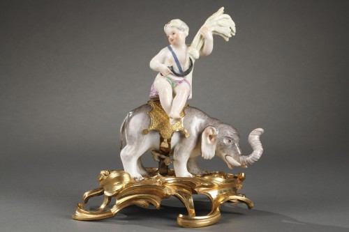 Antiquités - Meissen porcelain 18th century period with ormulu bronze circa 1745-1749