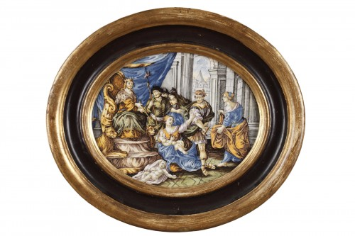 CASTELLI : large faience plaque circa 1740 - 1750