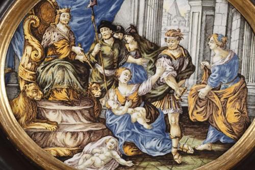 CASTELLI : large faience plaque circa 1740 - 1750 -