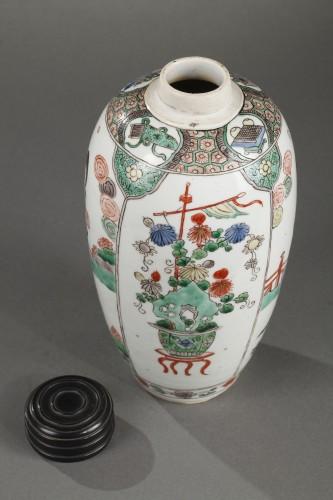 "- CHINA : Pair of vases decorated with ""Long Elisa"" pattern Kangxi 1662 - 172"