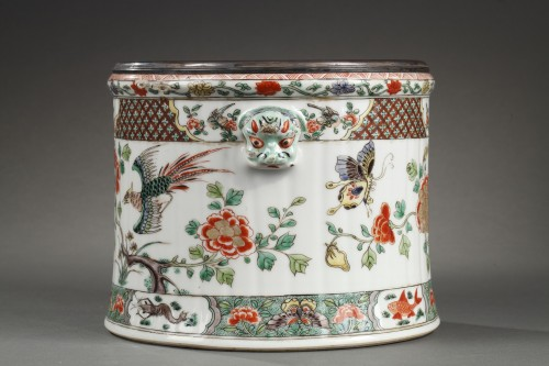 18th century - Paire of wine coolers Famille verte Kangxi period 1662 - 1722