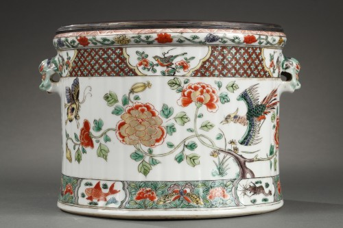 Paire of wine coolers Famille verte Kangxi period 1662 - 1722 -