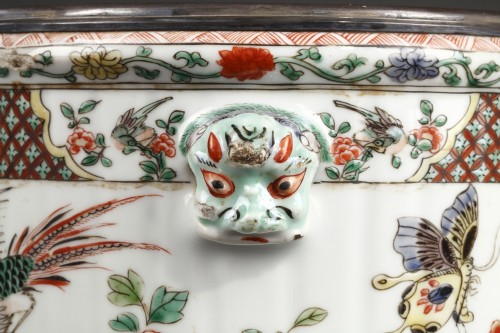 - Paire of wine coolers Famille verte Kangxi period 1662 - 1722