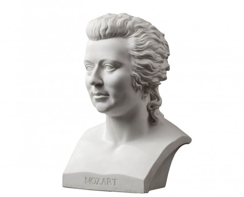 KPM Berlin - 19th century Mozart biscuit bust