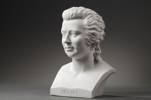 Porcelain & Faience  - KPM Berlin - 19th century Mozart biscuit bust