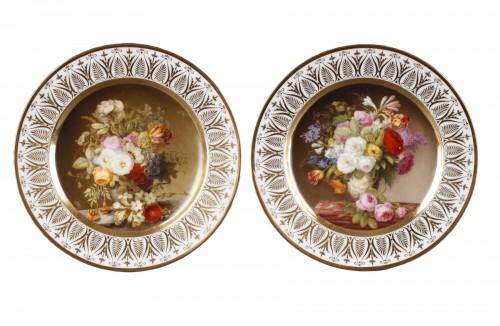 Dihl et Guerhard Paris workshop plates begining of 19 century