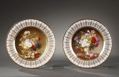 Porcelain & Faience  - Dihl et Guerhard Paris workshop plates begining of 19 century