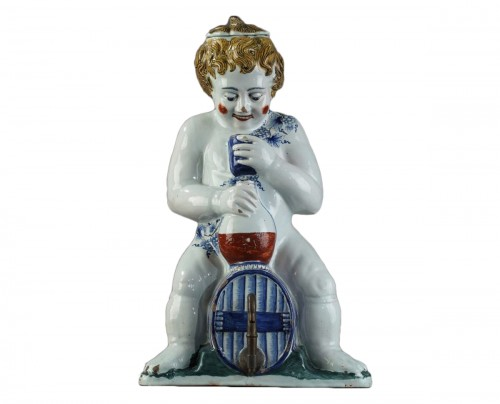 Lille, faience fontain depicting Bacchus, mid 18th century