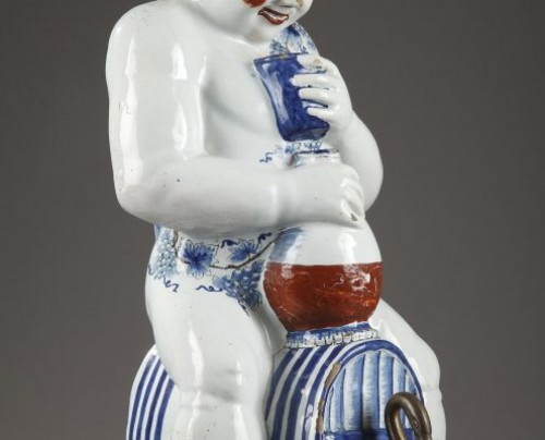 Porcelain & Faience  - Lille, faience fontain depicting Bacchus, mid 18th century