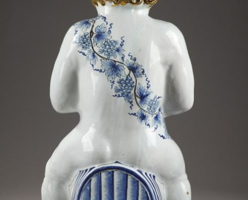 Lille, faience fontain depicting Bacchus, mid 18th century -