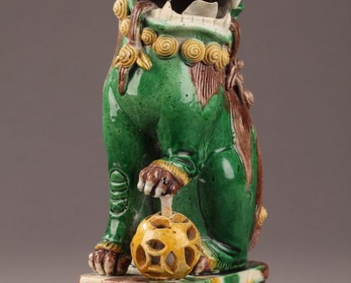 China : Pair of Fo dogs, Kangxi (1662 - 1722) -