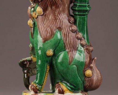 Antiquités - China : Pair of Fo dogs, Kangxi (1662 - 1722)