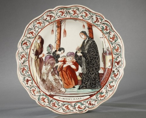 18th century - Set of seven plates, Delft End of 18th century