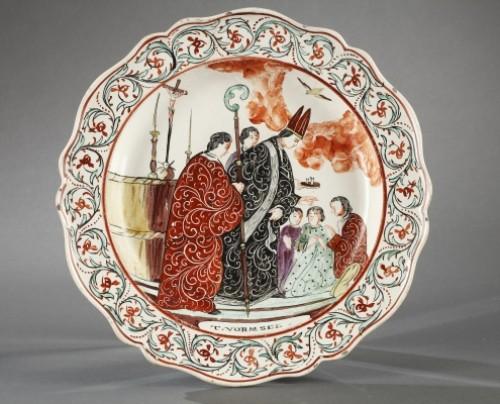 Antiquités - Set of seven plates, Delft End of 18th century