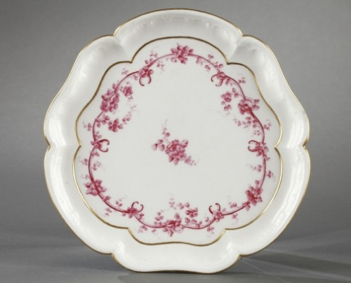 SEVRES : Soft paste tray and four gobelets. 18th century year 1759 -