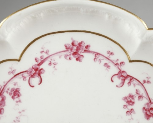 18th century - SEVRES : Soft paste tray and four gobelets. 18th century year 1759