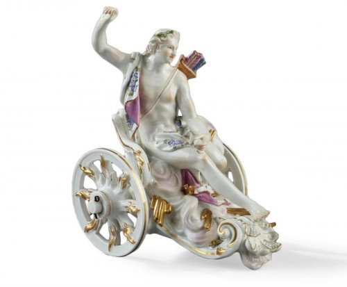 MEISSEN : Porcelain group depicting Apollon. Mid 18th century circa 1755