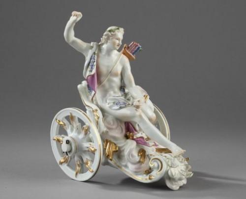 MEISSEN : Porcelain group depicting Apollon. Mid 18th century circa 1755 - Porcelain & Faience Style