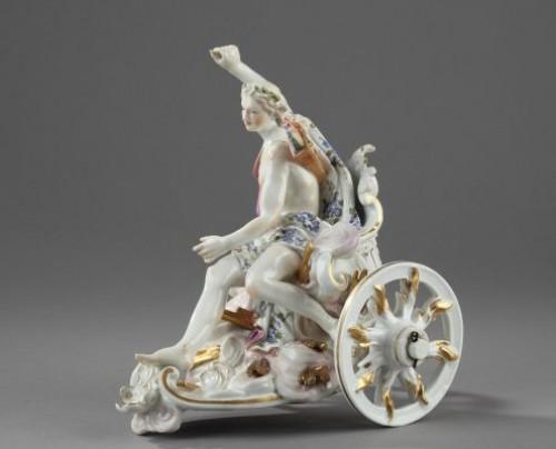 Porcelain & Faience  - MEISSEN : Porcelain group depicting Apollon. Mid 18th century circa 1755