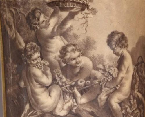 PARIS : Houzel manufacture. Paire of vases End of 18th century -