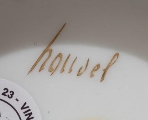 Antiquités - PARIS : Houzel manufacture. Paire of vases End of 18th century