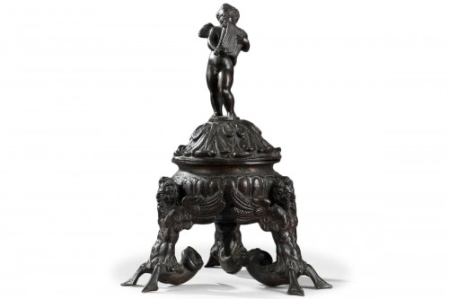 Tripod inkwell in bronze, Venice or Padua late 16th century