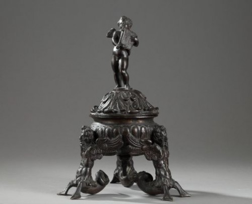 Tripod inkwell in bronze, Venice or Padua late 16th century - Objects of Vertu Style