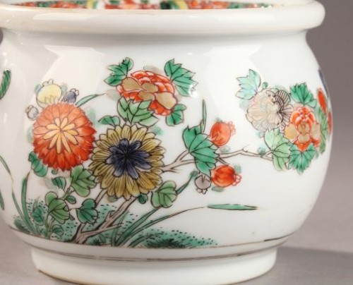 CHINA EXPORT WARE : Famille verte Zhadou. 18th century - Porcelain & Faience Style