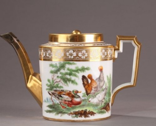 CRETEE Manufacture at BRUXELLES : Teapot End of 18th century - Porcelain & Faience Style