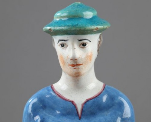 Porcelain & Faience  - Faïence figure, Hoechst Germany  18th century
