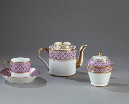 """Porcelain & Faience  - Service called """"Egoïste"""" in Paris porcelain end of the 18th century"""