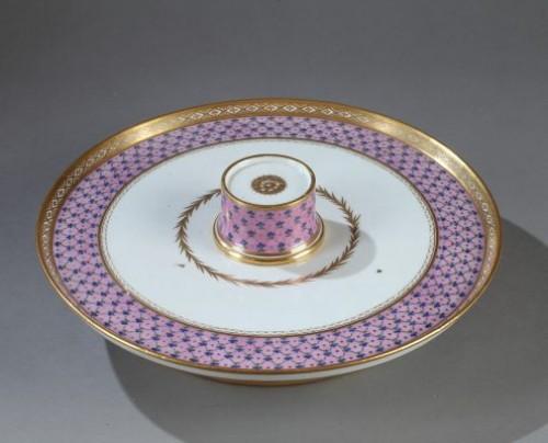 "Service called ""Egoïste"" in Paris porcelain end of the 18th century -"