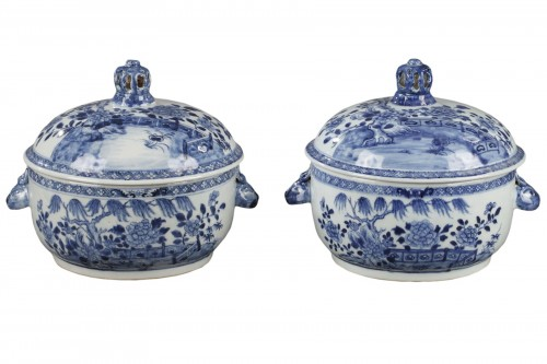 China Exportware pair of terrines Qianlong period 1736 - 1795