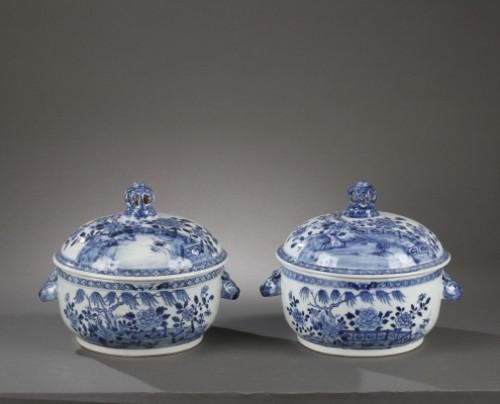 Porcelain & Faience  - China Exportware pair of terrines Qianlong period 1736 - 1795