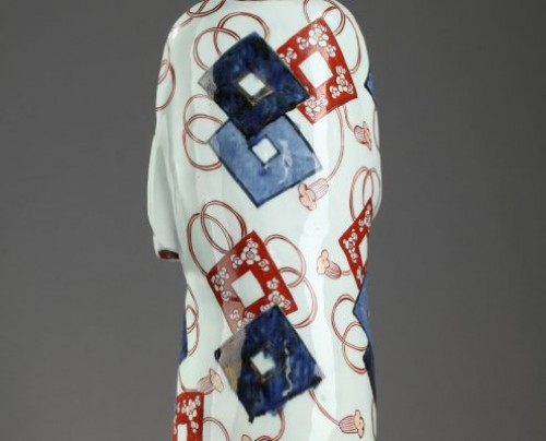 Porcelain & Faience  - Japan, Arita : Large figure depicting a man Genroku period 1688 - 1704