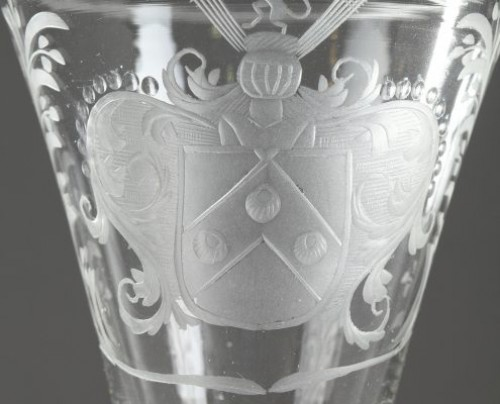 Glass & Crystal  - Engraved glass, Low Countries First quarter of 18th century